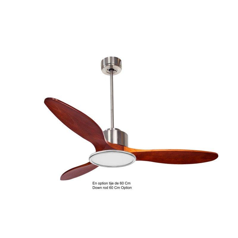 Modulo de KlassFan - Ventilateur de plafond avec lumière bois rouge idéal à partir de 40 m² KL_DC3_P5RW132_L2Ch