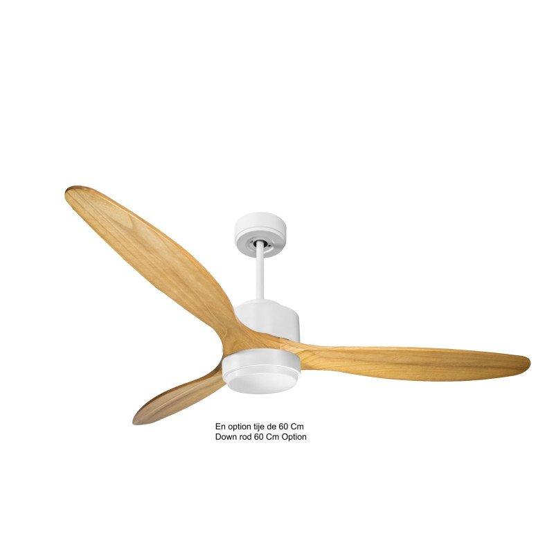 Modulo de KlassFan - Ventilateur de plafond Lumière blanc bois clair idéal de 25 à 40 m KL_DC4_P5SW166_l1wi