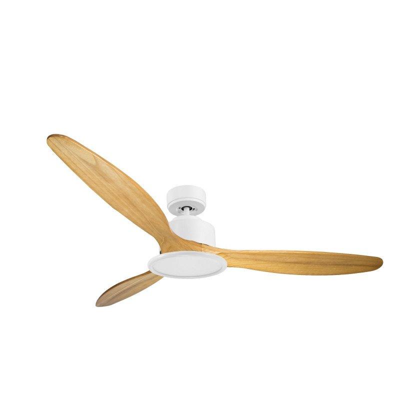 Modulo de KlassFan - Ventilateur de plafond Lumière blanc bois clair idéal de 25 à 40 m KL_DC4_P5SW166_l2wi