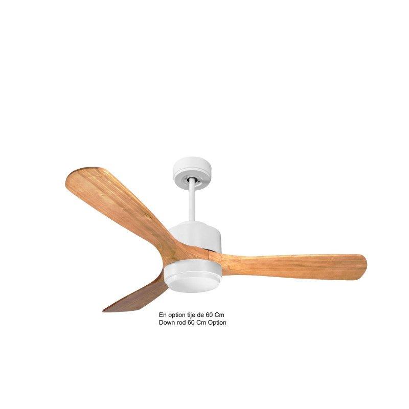 Modulo de KlassFan - Ventilateur de plafond Lumière blanc bois clair idéal de 25 à 40 m KL_DC4_P6SW132_l1wi