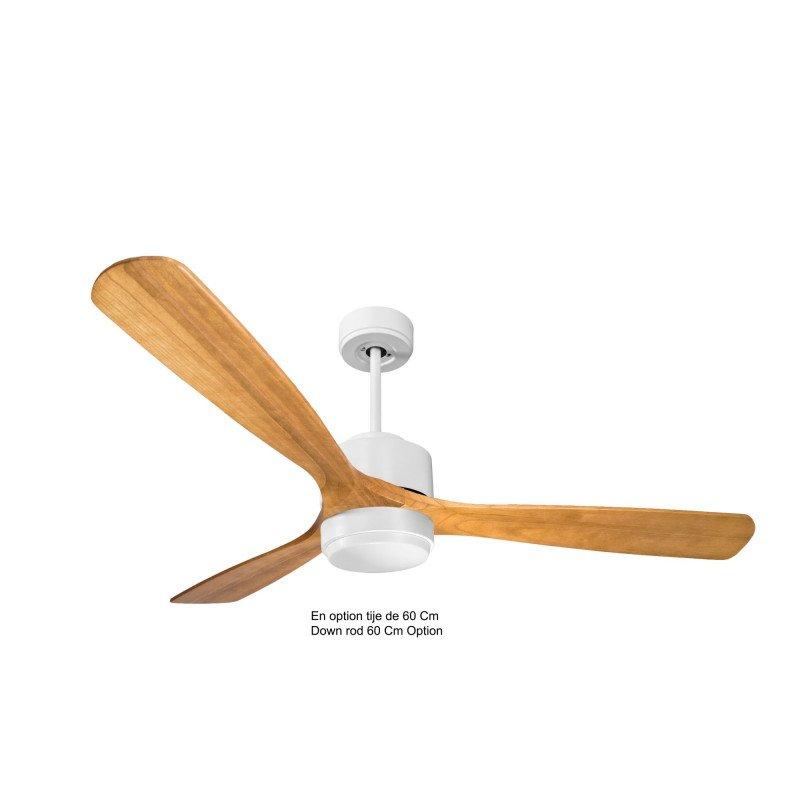 Modulo de KlassFan - Ventilateur de plafond Lumière blanc bois clair idéal de 25 à 40 m KL_DC4_P6SW166_l1wi