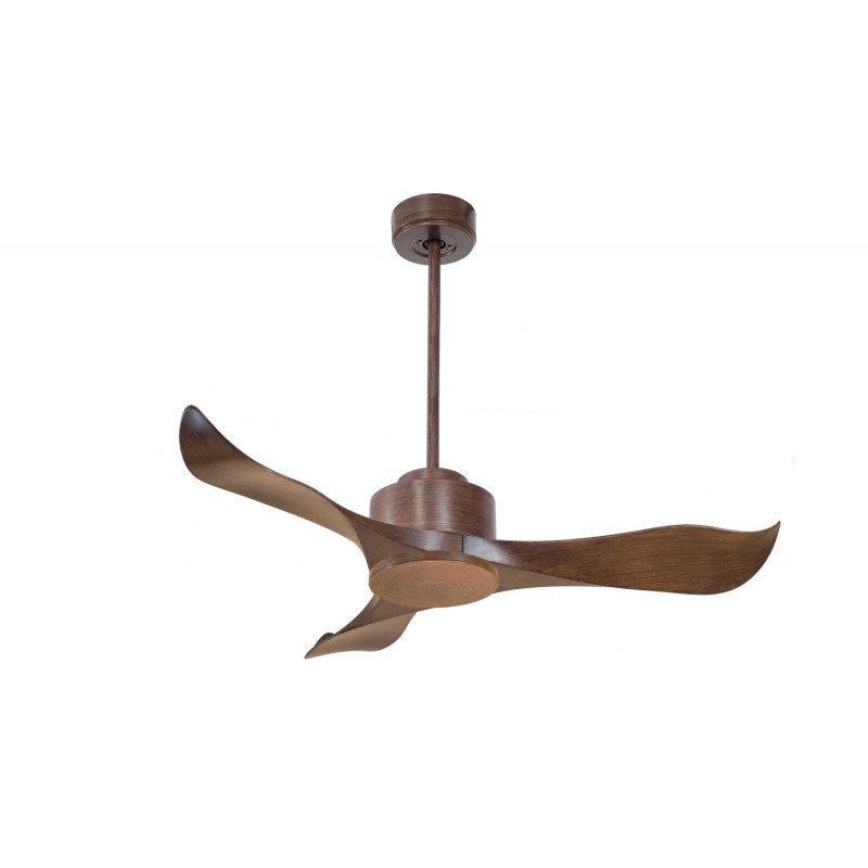 Modulo de KlassFan - Ventilateur DC de plafond sans Lumière gris basalte et bois idéal pour 20 à 30 m² KL_DC1_P1Wo