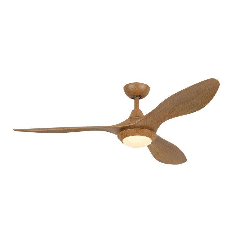 Ventilateur de plafond DC serie limité design bois avec lumiere, telecommande Lba home Hilux