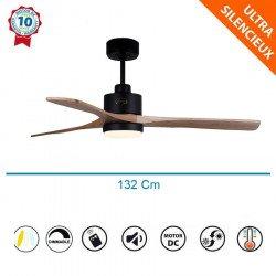 ventilateurs de plafond Flatwood avec telecommande, plus compact, ultra puissant