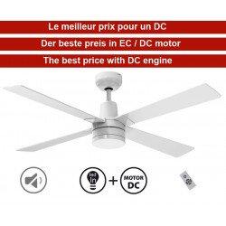 Electra de KlassFan une série limitée ventilateurs de plafond DC design, plus compact, ultra puissant, avec plaque LED