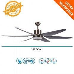Ventilateur de plafond DC 167 Cm Lba Home, ultra puissant, hyper silence, LEd, télécommande
