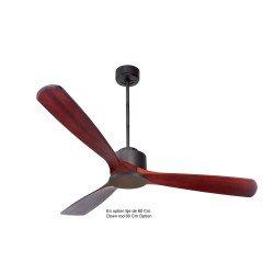 Modulo de KlassFan - Super déstratificateur d'air sans Lumière noir et bois foncé idéal de 25 à 40 m² KL_DC1_P6RW166