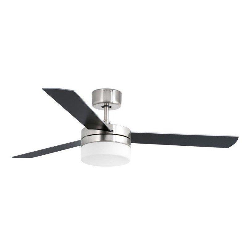 Ventilateur de plafond Nickelé 106 cm avec lampe deux couleurs de pales télécommande ir FARO FEROE 33601