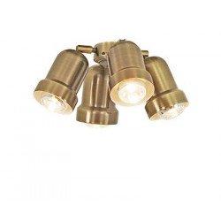 Kit luminaire pour ventilateur de plafond Light 4 (Laiton antique) Eco Elements, Carribean Dream, satin star, royal, merkur