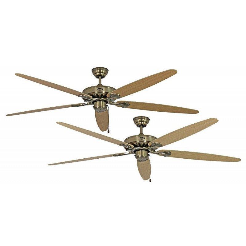 Ventilateur de plafond, Royal MA , classic 180 Cm, laiton antique, pales Erable et hêtre, CASAFAN