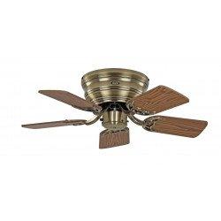 Ventilateur de plafond, Classic Flat, 75 Cm, Ultra plat, silencieux, pales chene - hetre et laiton antique, CASAFAN