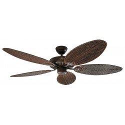 Ventilateur de plafond exterieur, Royal BA, classic 132 Cm, brun antique, pales rotin, CASAFAN