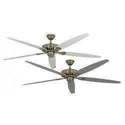 Ceiling Fan, MA Royal 180 cm, antique brass, white / gray blades, CASAFAN