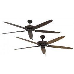 Ceiling fan, Royal BA, classic 180 Cm, antique brown, blades Old oak and walnut, CASAFAN