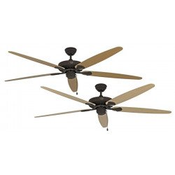 Ceiling Fan, Royal BA180 cm, Brushed chrome, Brown aged, blades Beech / Maple