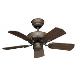 Ventilateur de plafond, Royal BA, classic 75 Cm, brun antique, pales noyer, CASAFAN