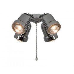 Kit luminaire for ceiling fans Light 4 versions Eco Elements, Carribean Dream, satin star, royal, merkur etc (Chrome)