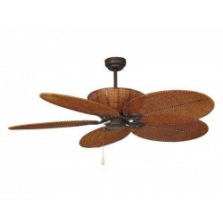 Efan Ceiling Fan 107 cm brushed steel, double walnut blades face, lamp, silent original