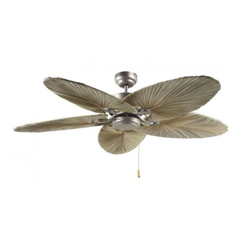 ceiling fan, tropical, colonial, blades woven of natural palm leaves