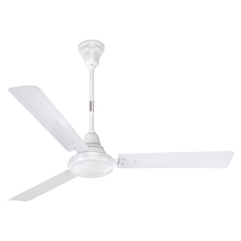 ceiling fan white metal industrial 150 Cm.