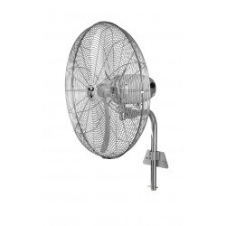 Brasseur d'air oscillant chrome haute performances 65 Cm, 123 Watts, hauteur 158 Cm ultra puissant.