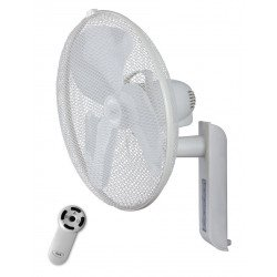wall fan, greyhound diam. 45 Cm white, with vertical and horizontal adjustable remote.