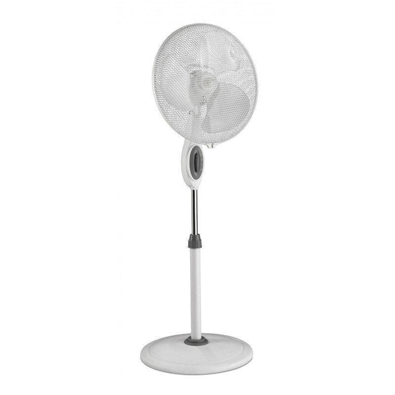 Ventilateur sur pied greyound blanc casafan 40 Cm, silencieux avec oscillation.
