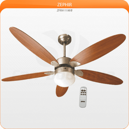 Ceiling Fan 132 cm, with lamp and remote contemporary style ..