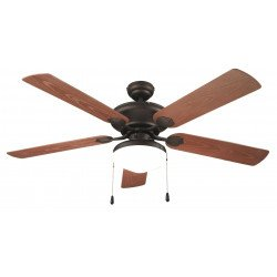 Ceiling fan, classic, 132 cm. with light