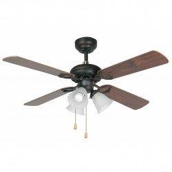 Ventilateur de plafond classique marron avec luminaire 107 cm FARO Lisboa 33102