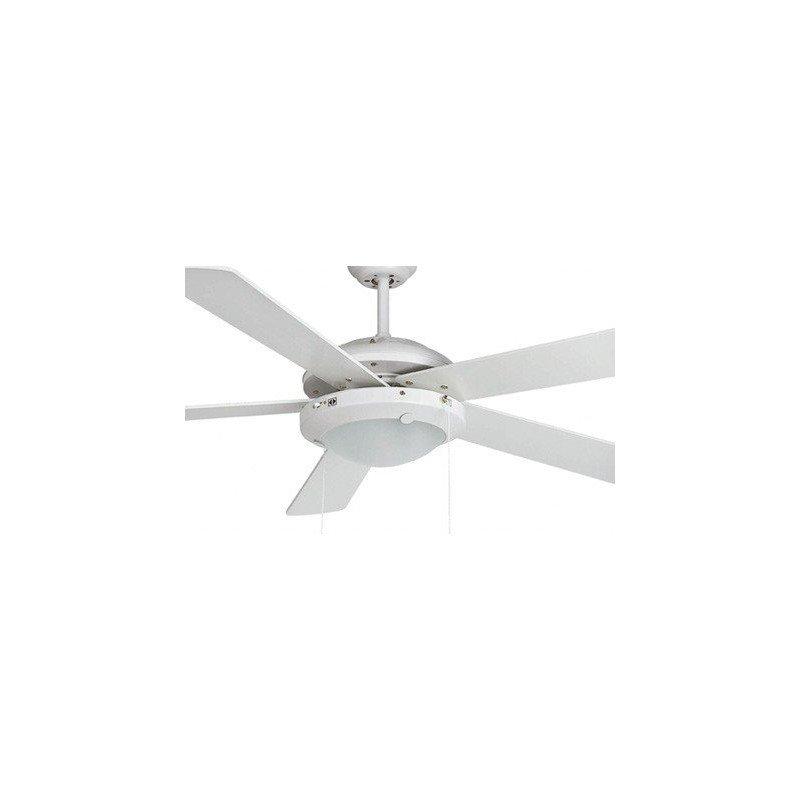 Ventilateur de plafond moderne blanc avec luminaire bi colore, télécommande IR, 132 cm FARO MANILA 33190