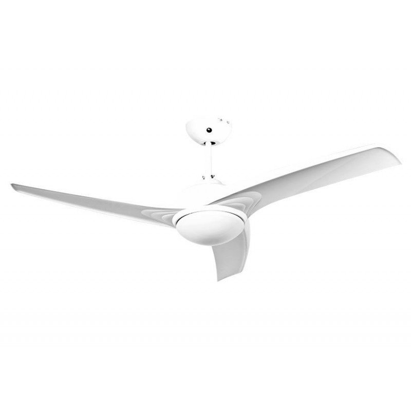 Ceiling Fan 132 cm, sleek design with light and remote control, very quiet.