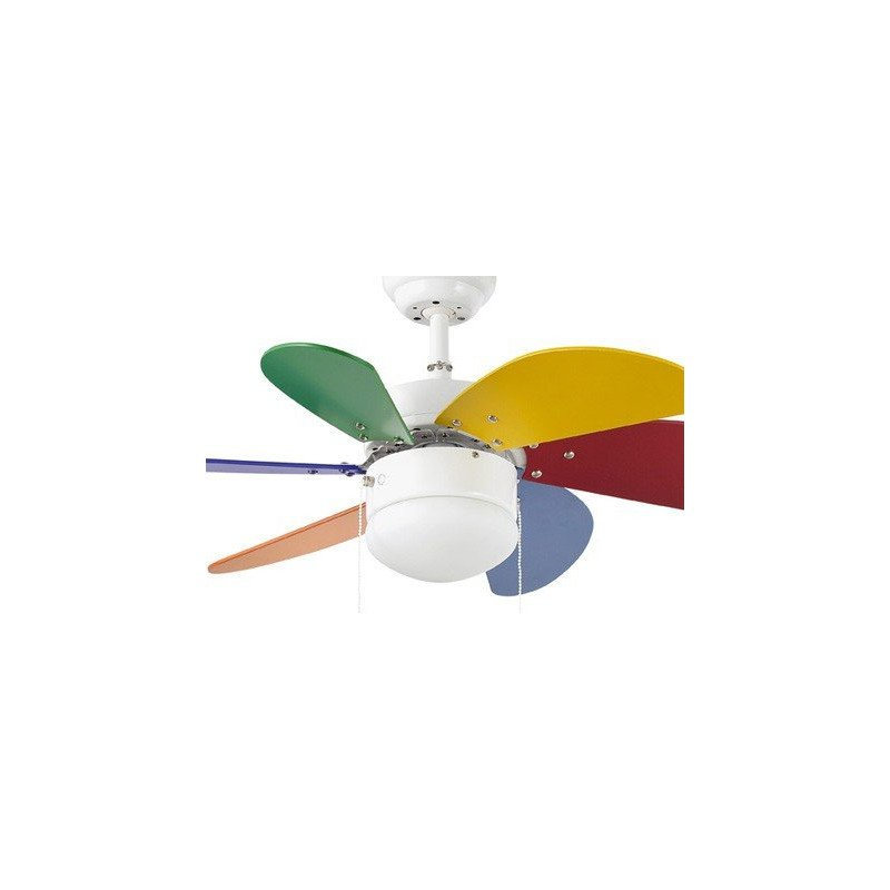 Palao es peque o ventilador eficaz silencioso y equipado con lampara ideal para 20 m - Ventiladores de techo para ninos ...