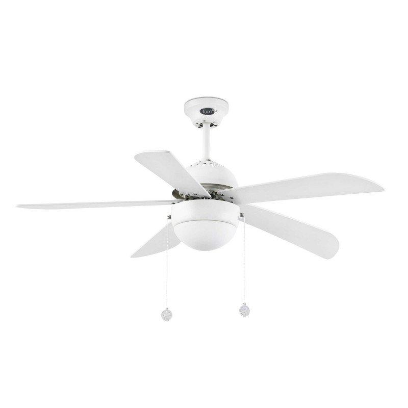 Ventilateur de plafond classique blanc 107 cm avec lampe FARO VENETO 33318