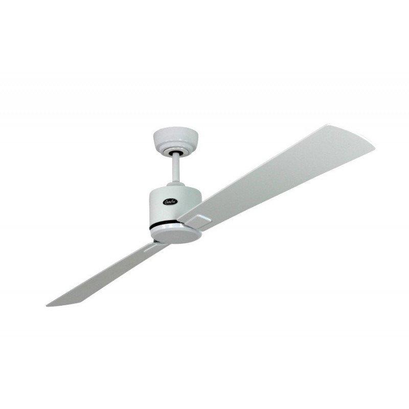 Ventilateur de plafond DC, moderne 180 Cm laqué blanc pales laquées blanches, grises, télécommande, CASAFAN Eco Neo II WE