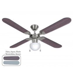 Ceiling Fan, modern style, 106 cm. black and chrome, Owando