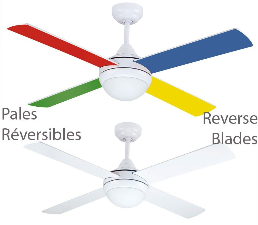 Ceiling Fan Children 105 Cm Silent And Light Colored Blades Remote Control