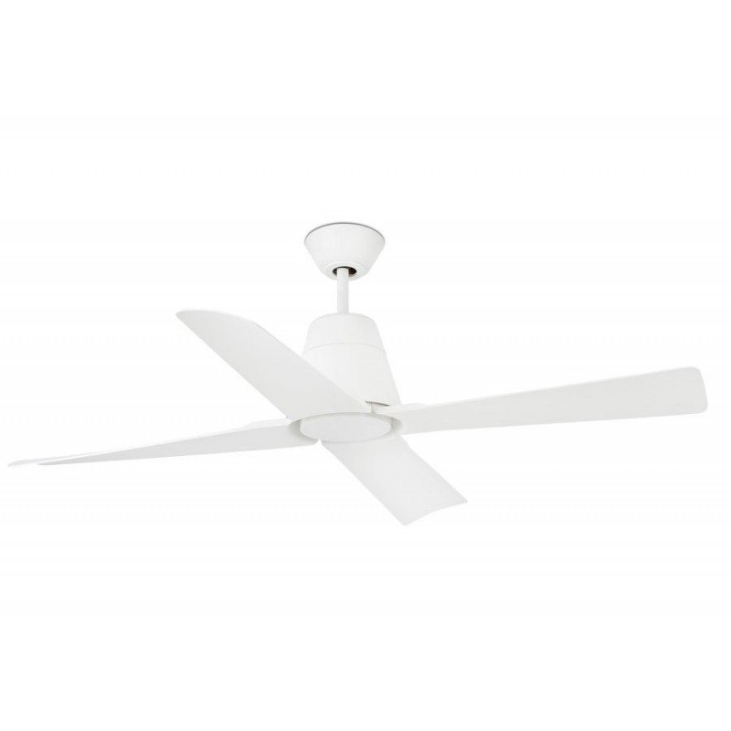 Ventilateur de plafond destratificateur IP 44 grand taille blanc design FARO Typhoon