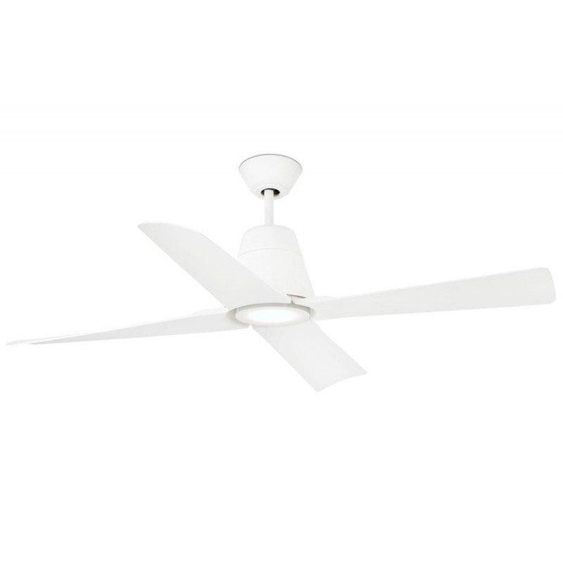 Ventilateur de plafond destratificateur IP 44 grand taille blanc design FARO Typhoon