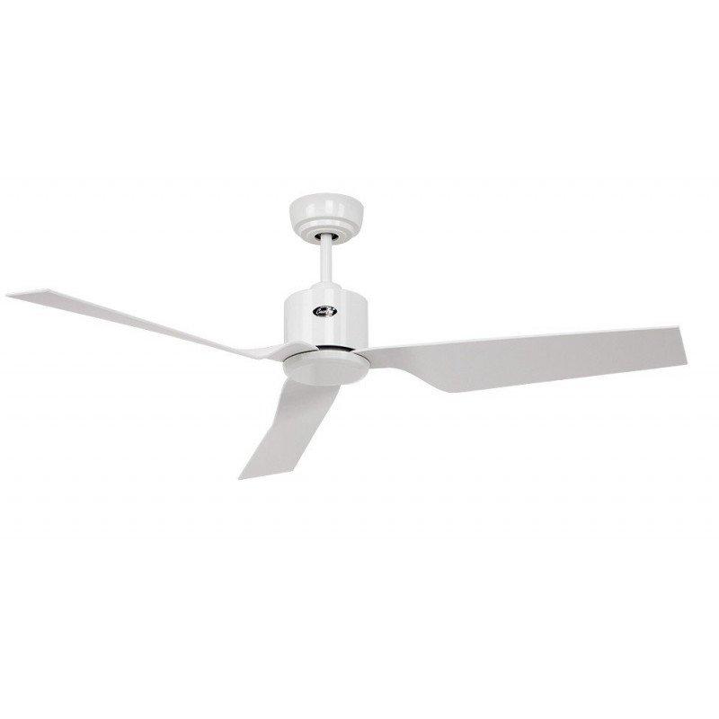 Ventilateur de plafond DC, moderne 132 Cm blanc et pales blanches, télécommande, CASAFAN Eco Dynamix WE
