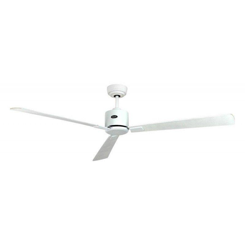 Ventilateur de plafond DC, moderne 152 Cm laqué blanc pales laquées blanches, grises, télécommande, CASAFAN Eco Neo II WE