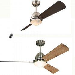 Ventilateur de plafond Libeccio, corps Chrome, un produit, 20 ventilateurs différents !