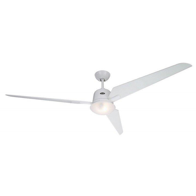 ventilateur plafond moderne blanc 162 Cm avec télécommande réversible ultra silencieux