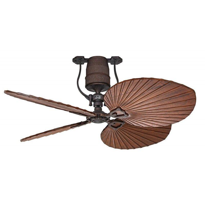 Ventilateur de plafond vintage moteur bronze pales 132 Cm chêne et noyer moteur DC , télécommande, Roadhouse BA-AN CASAFAN