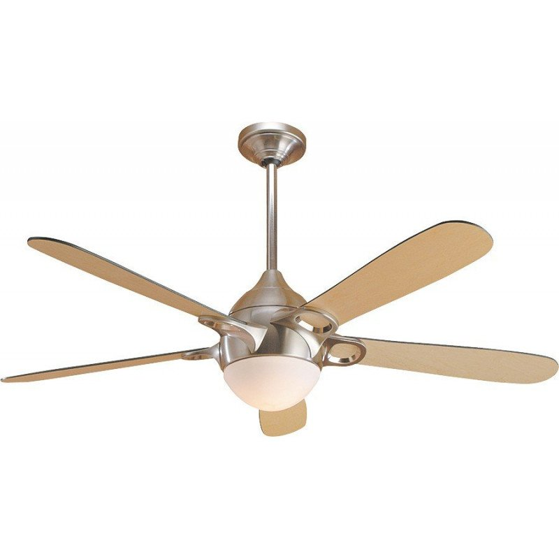 Modern and powerful ceiling fan with light in white, silent, 132 cm Hunter Lugano