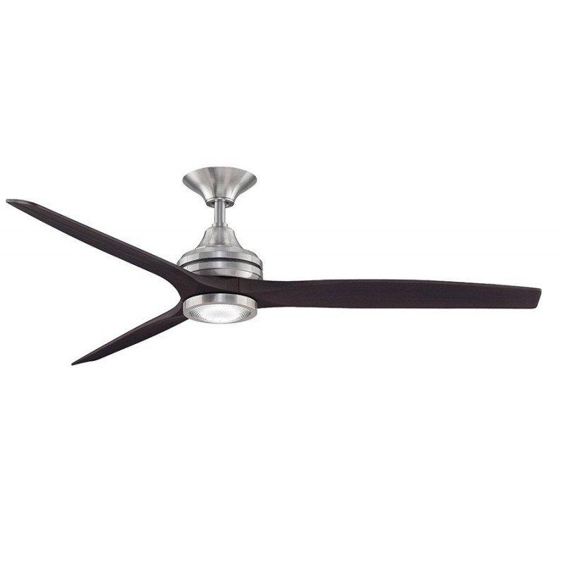 Ventilateur de plafond spitfire fanimation moderne 152 Cm avec lampe led Ultra silencieux Noyer huilé et moteur nickel
