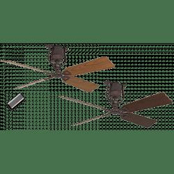 Ventilateur de plafond vintage moteur bronze pales 152 Cm chène et noyer moteur DC , télécommande, Roadhouse BA-AN CASAFAN
