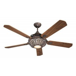 Ceiling Fan, St. Pepeo RB, aged bronze blades cherry / walnut, a marvel of unparalleled classic style.
