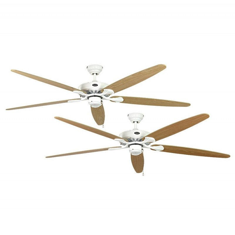royal de casafan un ventilateur de plafond pour tr s grande pi ce corps blanc pales rable ou. Black Bedroom Furniture Sets. Home Design Ideas