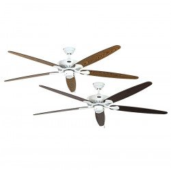 Ceiling Fan, Royal BN180 cm, Brushed chrome, blade - Oak / Walnut.CASAFAN
